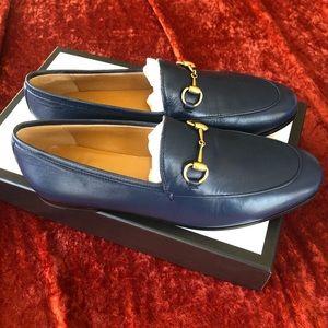 Gucci Malaga Kid navy loafers